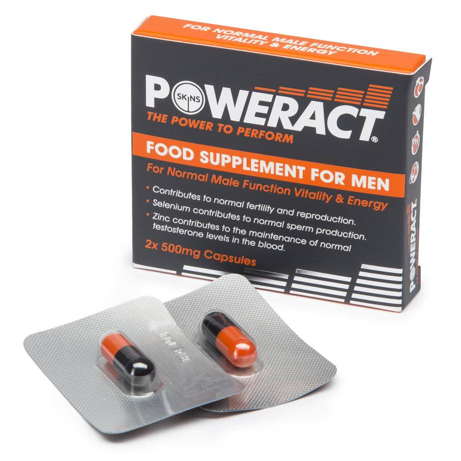 Skins Poweract Performance Capsules for Men (2 Capsules)