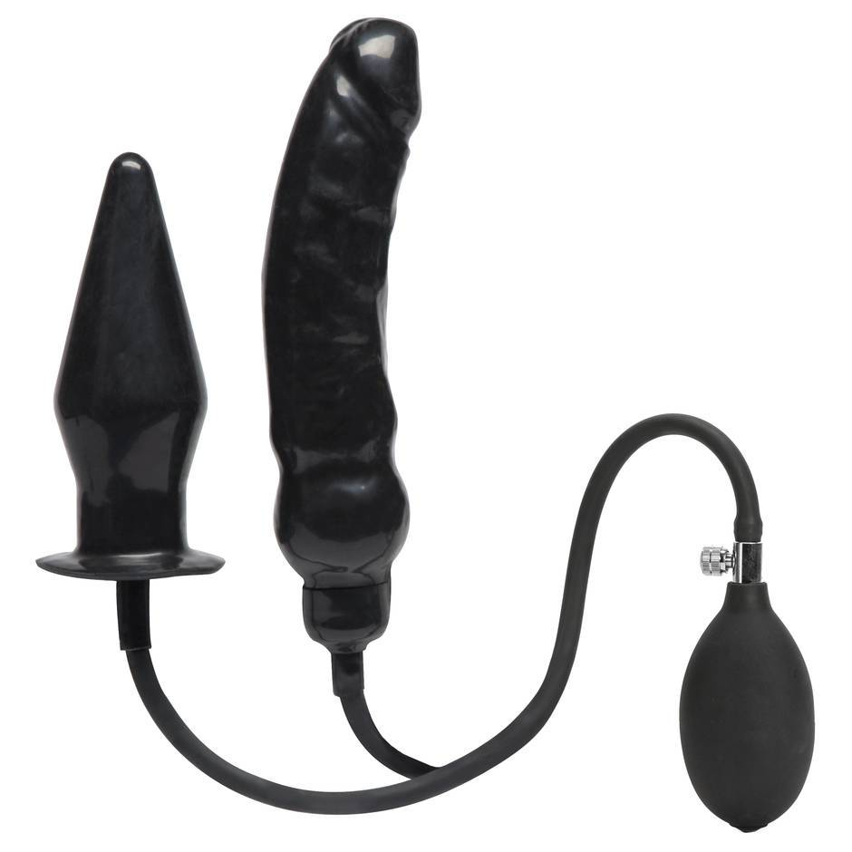 Cock Locker Dual Inflatable Dildo and Butt Plug
