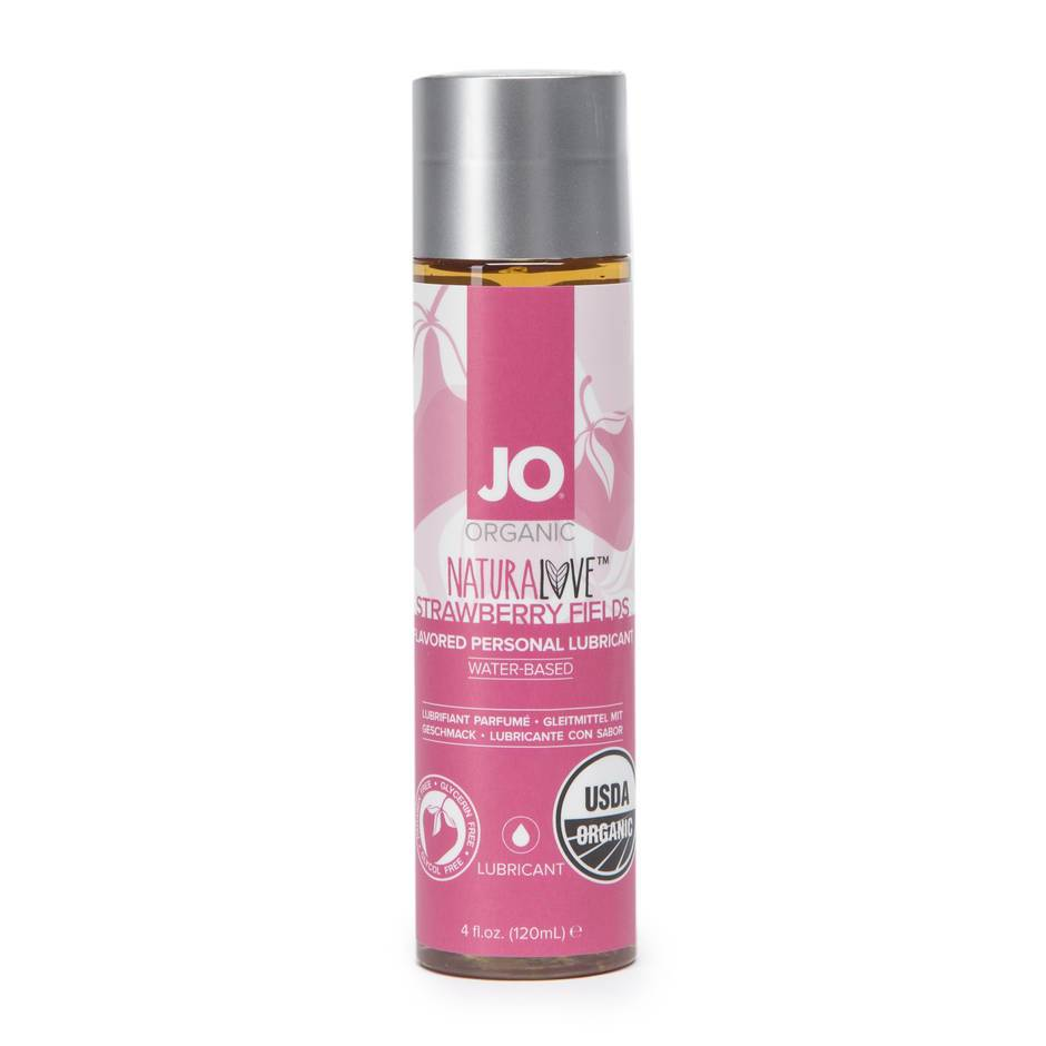 System JO Organic Strawberry Flavored Lubricant 4 fl oz