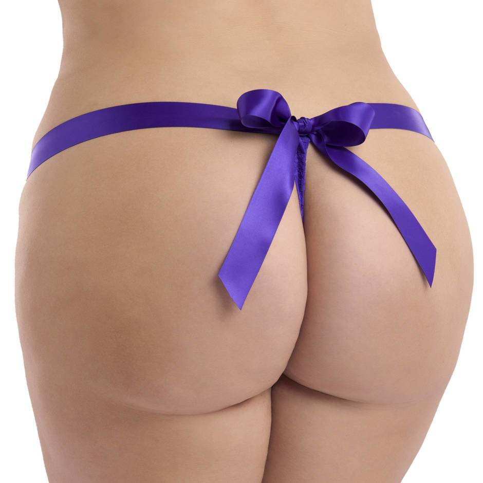 Lovehoney Unwrap Me Plus Size String (lila)