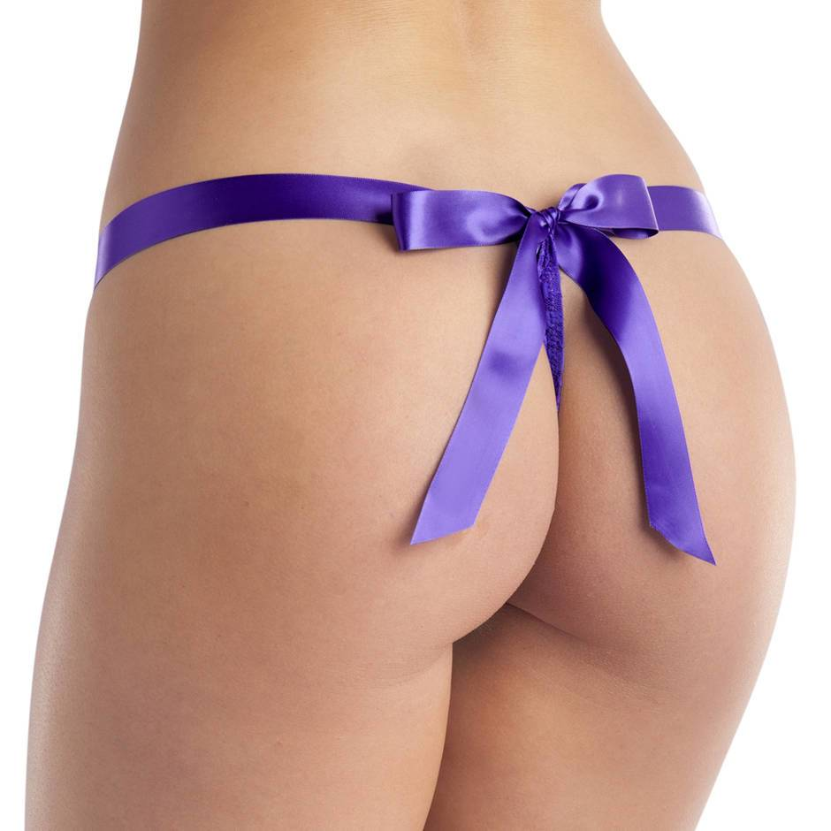 Lovehoney Unwrap Me Purple Women's Thong