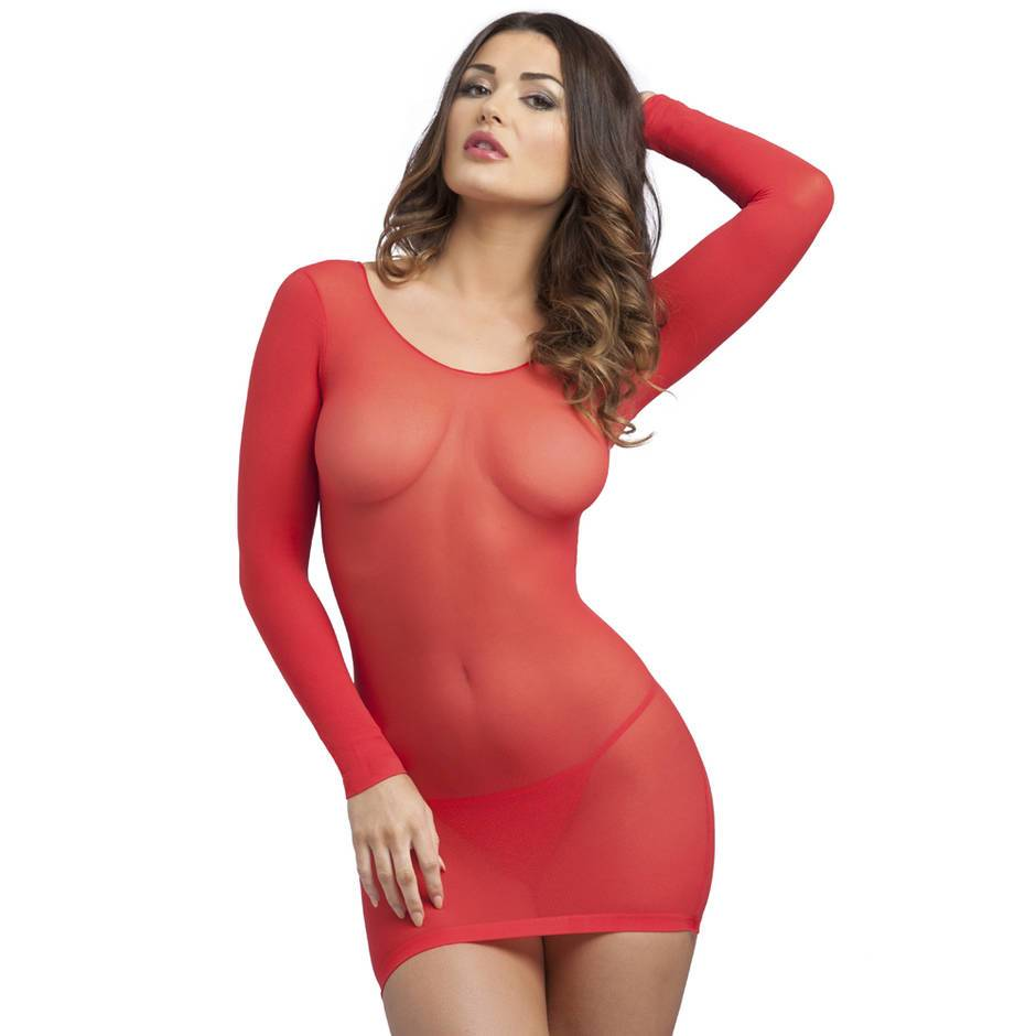 Lovehoney Long Sleeve Red Mini Dress