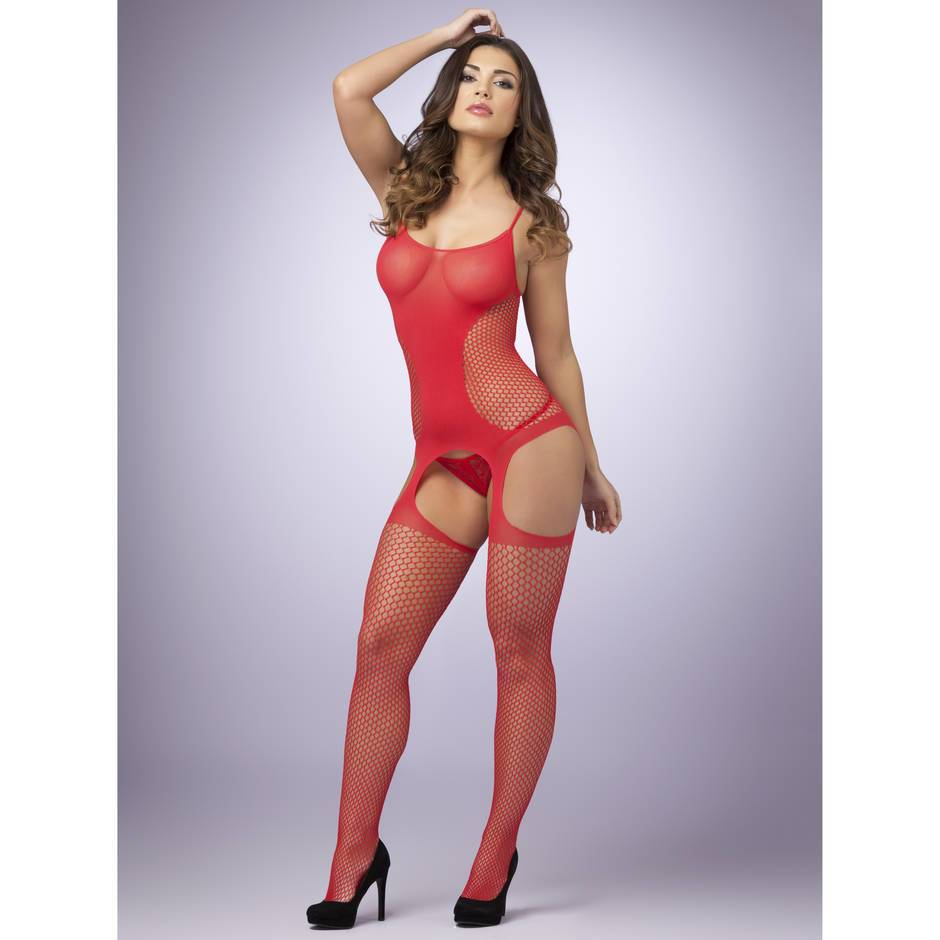 Lovehoney Red Hourglass Suspender Bodystocking