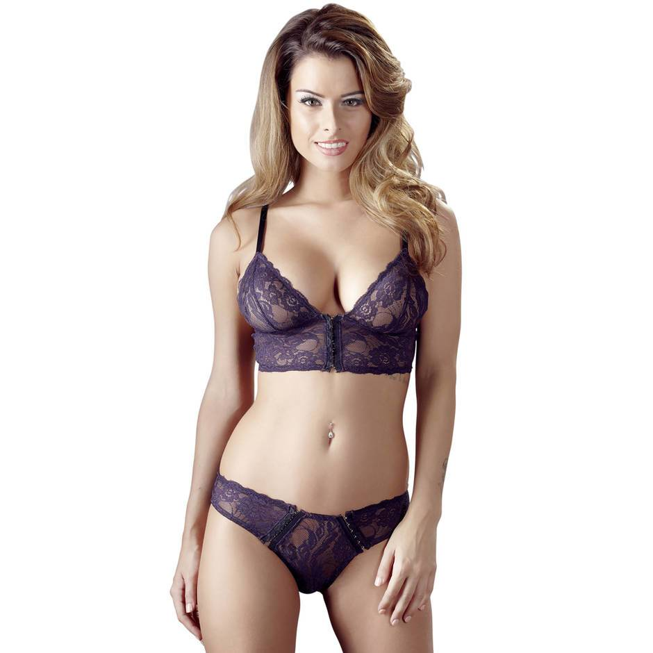 Cottelli Front-Fastening Bralette and Briefs Set