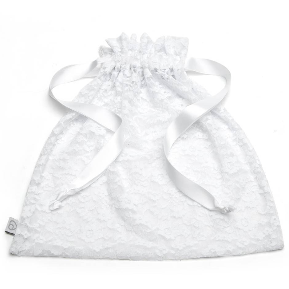 Lovehoney White Lace Drawstring Lingerie Gift Bag