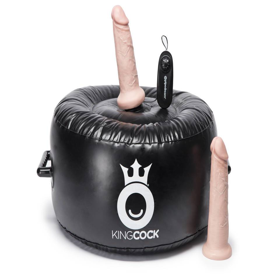King Cock Vibrating Inflatable Hot Seat with 2 King Cock Attachments
