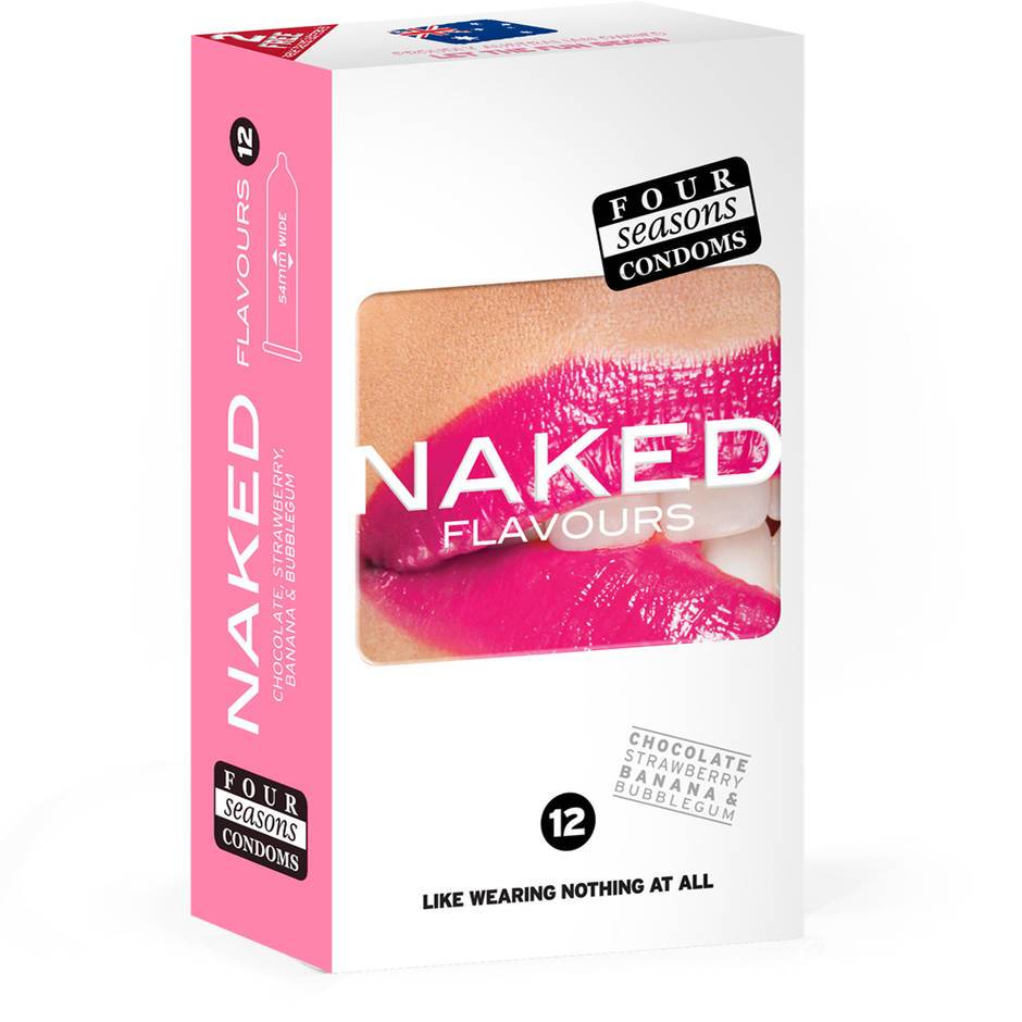 Four Seasons Naked Flavoured Condoms (12 Pack)