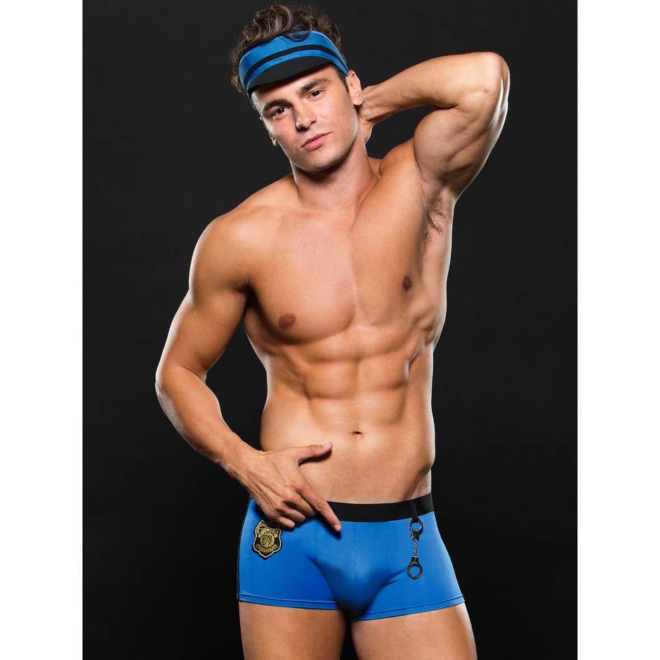 Envy Sergeant Sexy Policeman Boxer Shorts and Hat