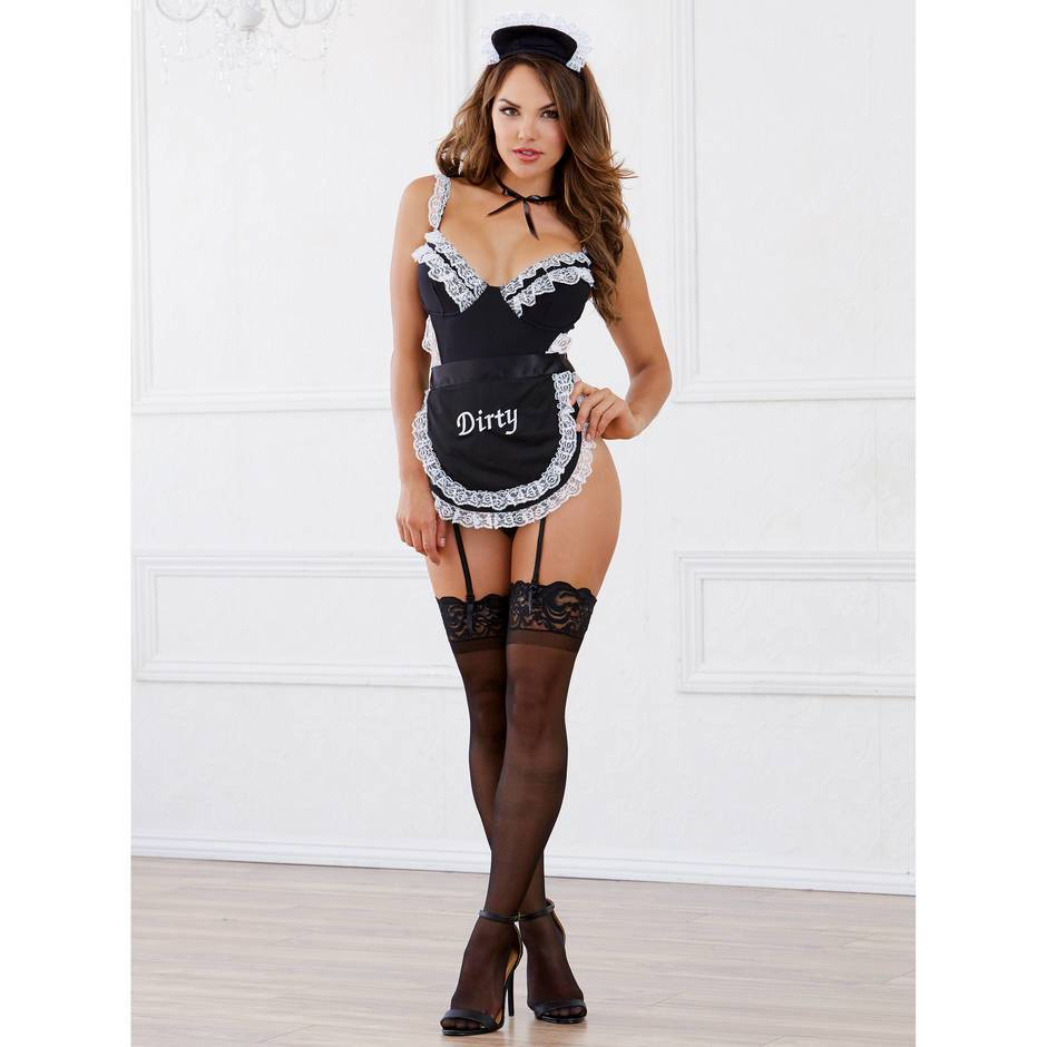 from Milo french maid cum suspenders