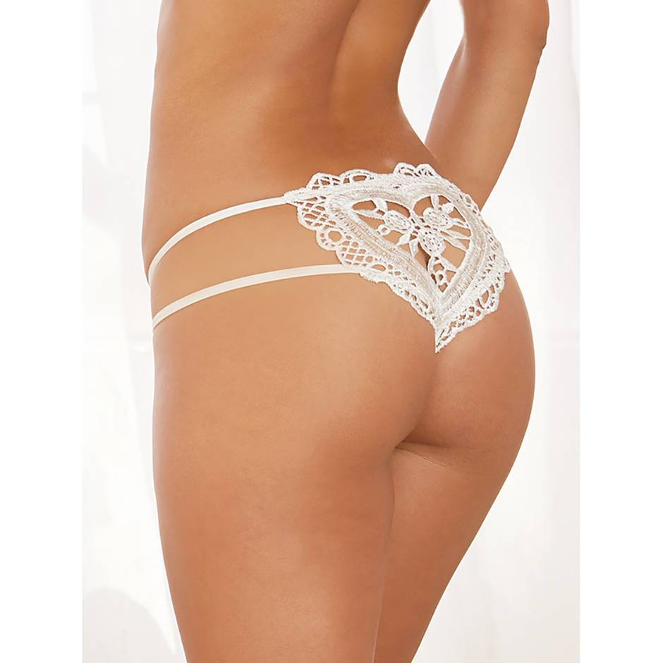 Dreamgirl Peephole Heart-Back Panties