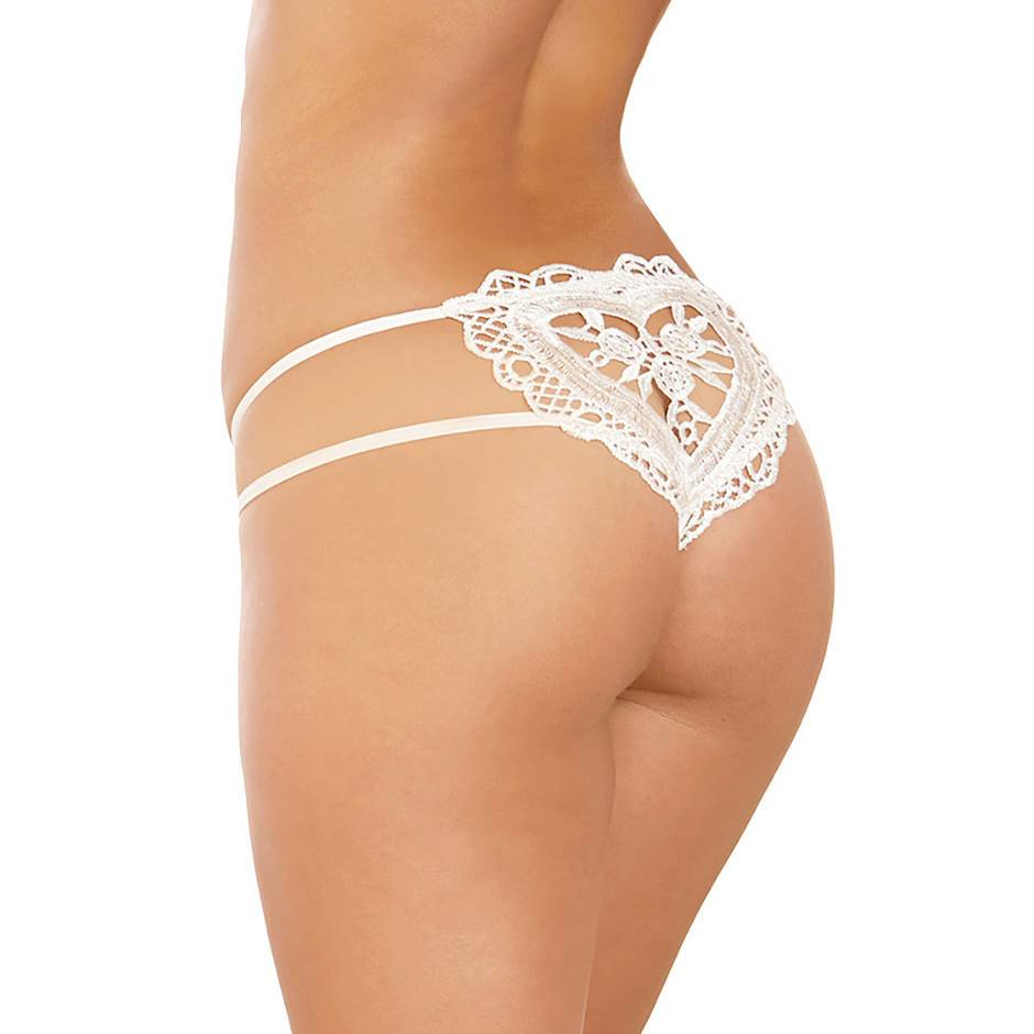 Dreamgirl Peephole Heart-Back Knickers