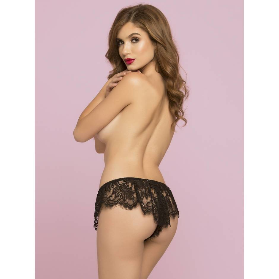 Seven 'til Midnight Black Lace French Panties