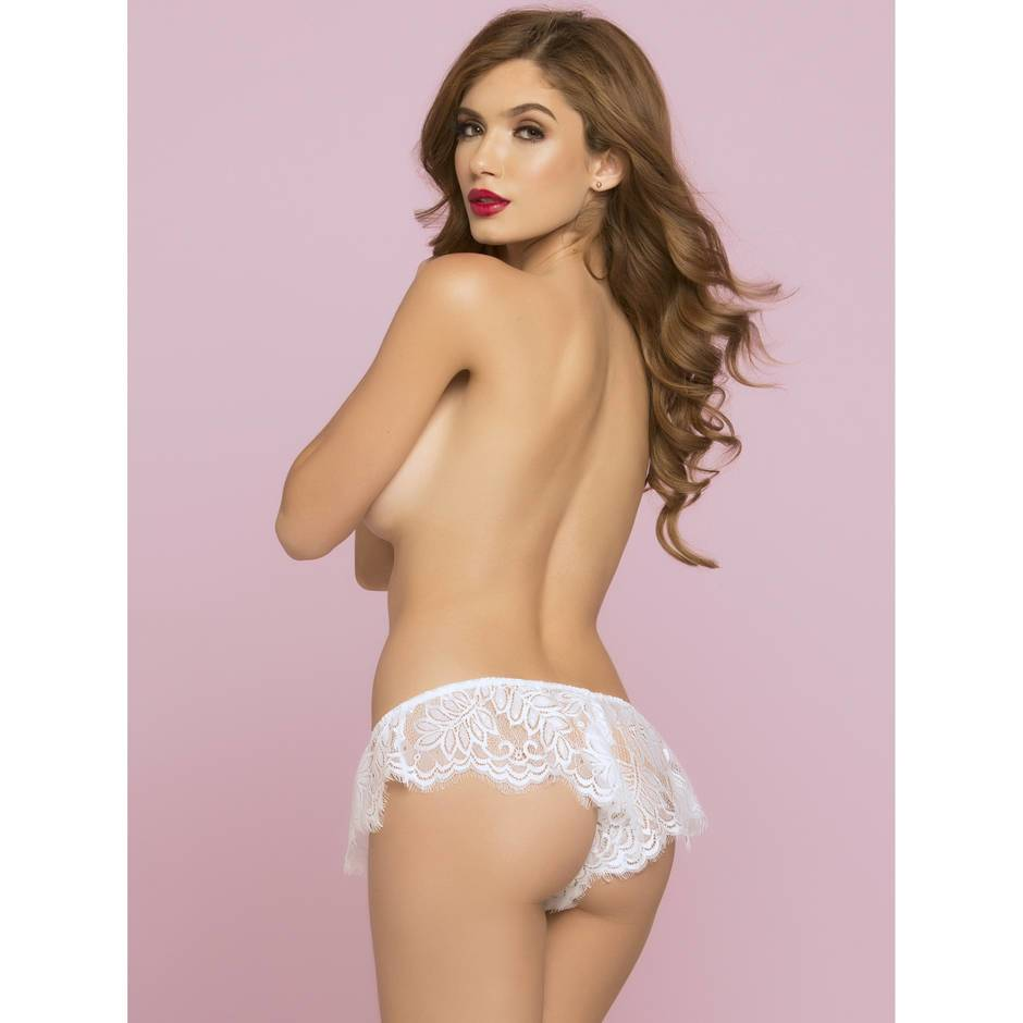 Seven 'til Midnight White Lace French Panties