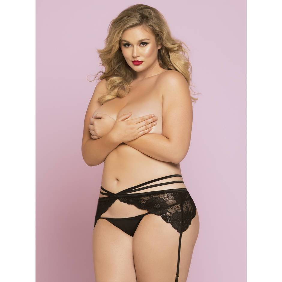 Seven 'til Midnight Plus Size Hourglass Lace Suspender Belt