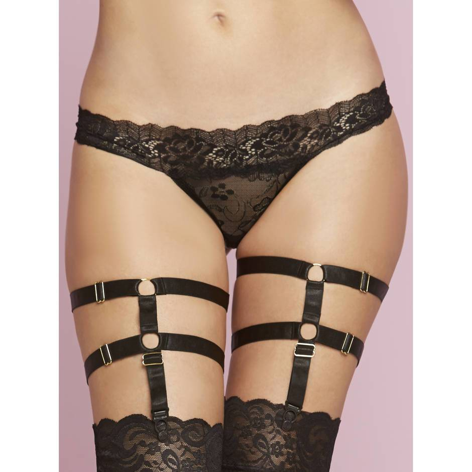 Seven 'til Midnight Adjustable Leg Harness Garters