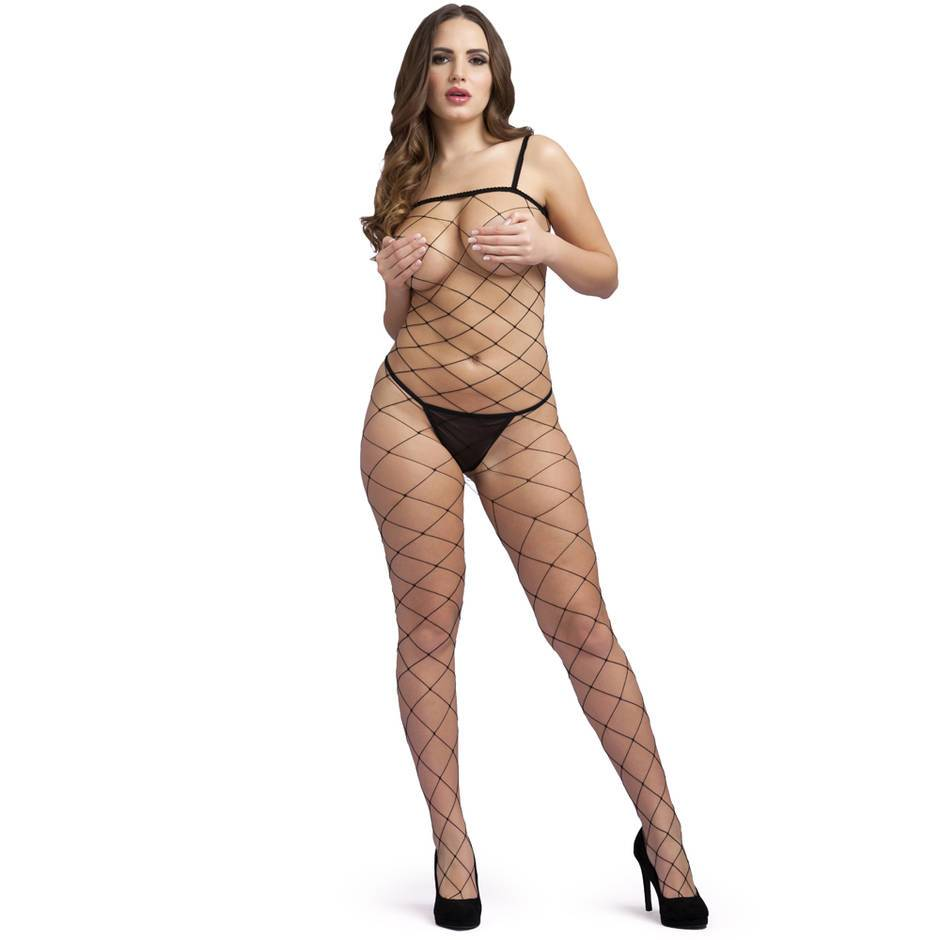 Collant intégral fendu filet, Lovehoney