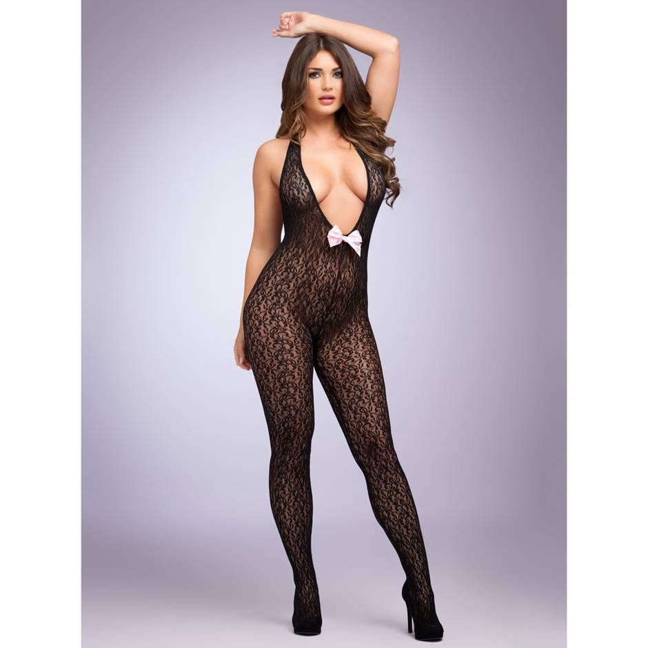 Lovehoney Seduce Me Plunge Front Crotchless Bodystocking
