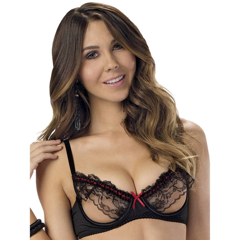 Escante Underwired Ruffle Open Cup Bra