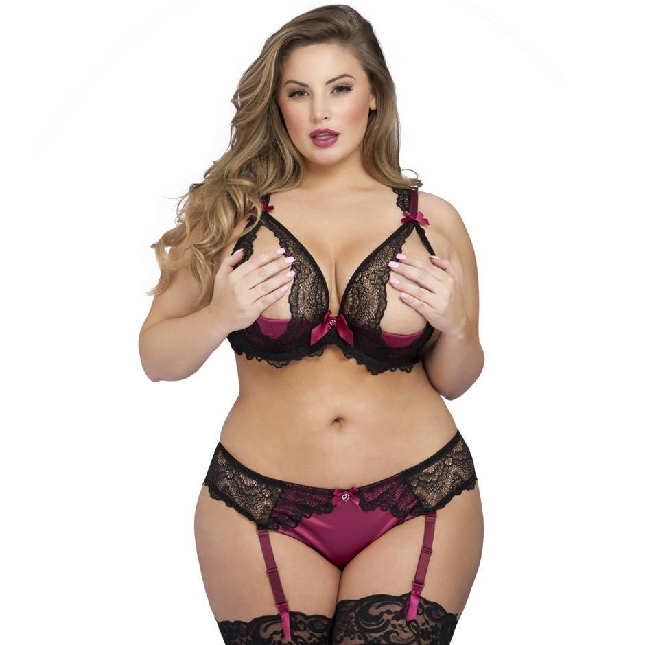 Lovehoney Plus Size Moonlight Ouvert-BH-Set