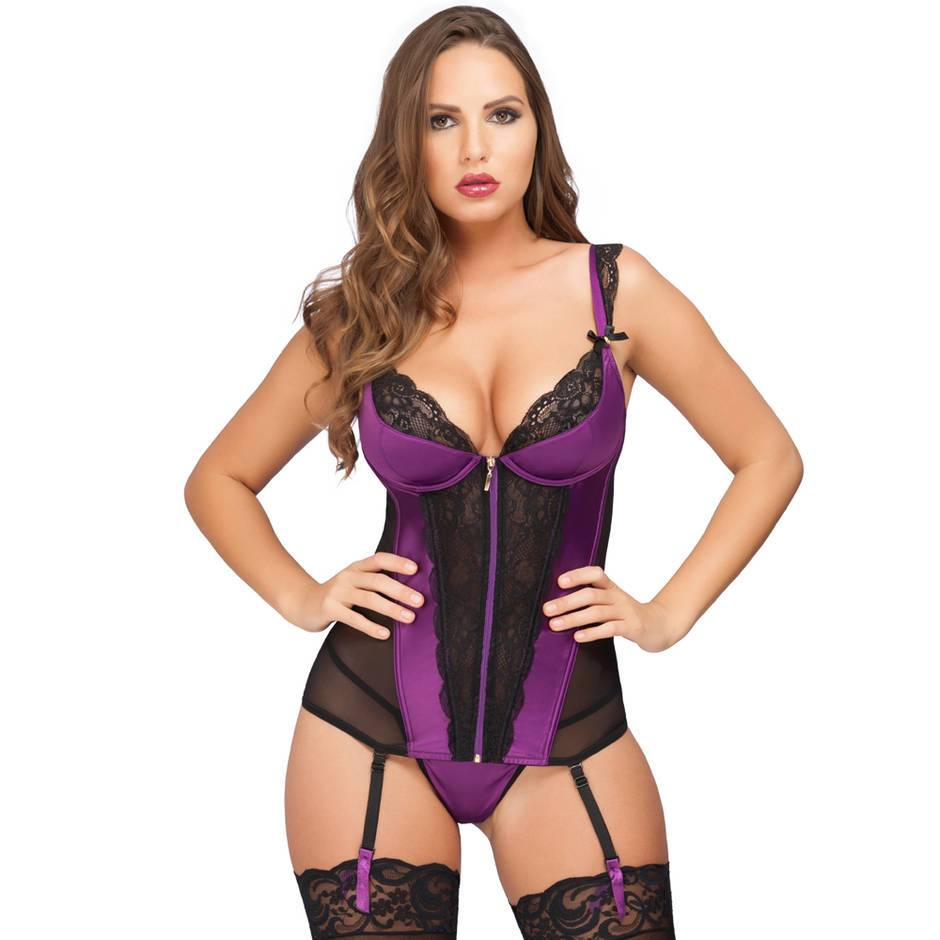 Lovehoney Treasure Me Plum Basque Set