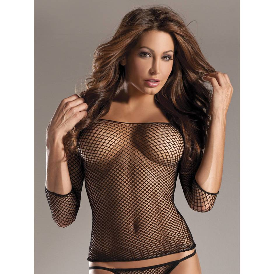 BeWicked Fishnet Long Sleeve Top