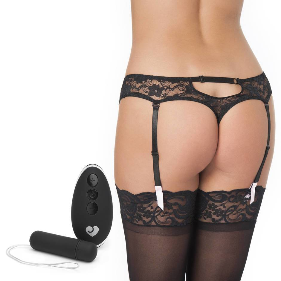 Lovehoney Seduce Me 10 Function Vibrating Suspender Thong