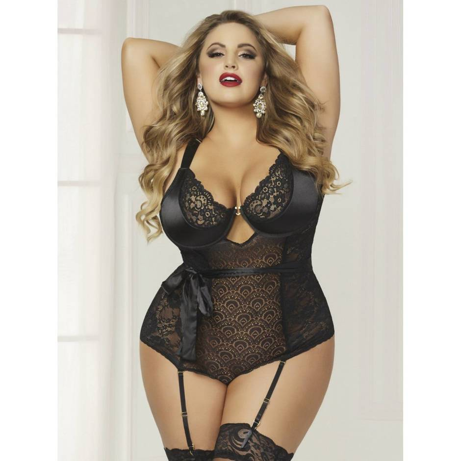 Seven 'til Midnight Plus Size Underwired Black Body