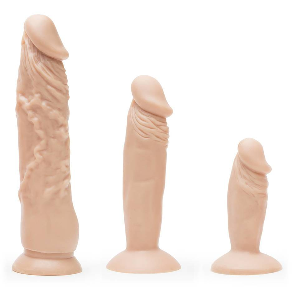Realistic Suction Cup Dildo Anal Training Set