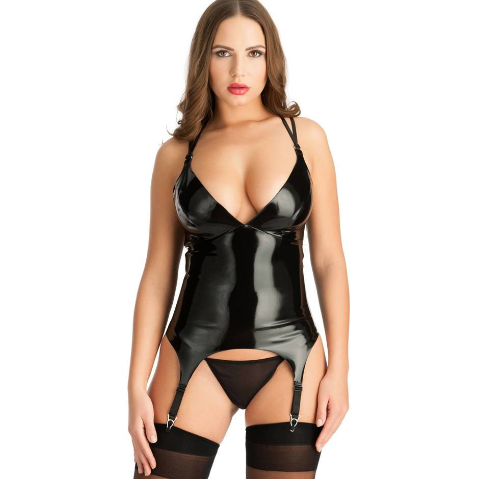 Easy-On Latex Basque with Suspenders