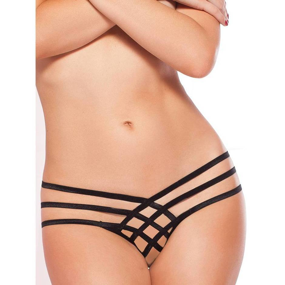 Seven 'til Midnight Strappy Crotchless Thong