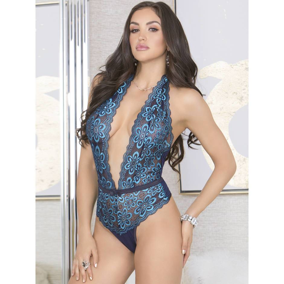 iCollection Deep Plunge Lace Body