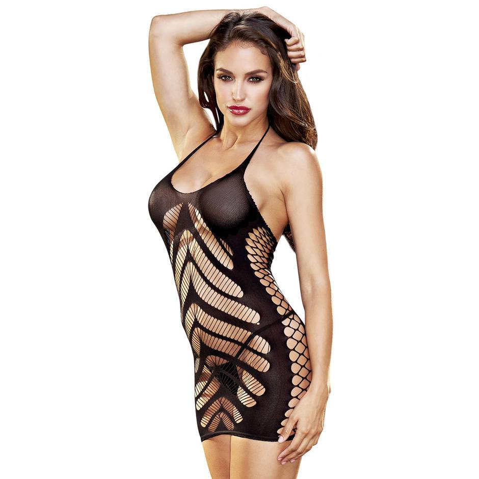Lapdance Crochet Cut-Out Mini Dress