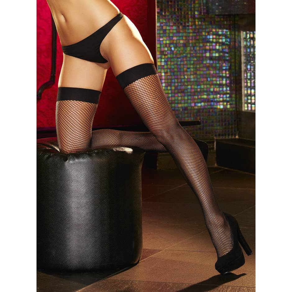 Lapdance Fishnet Thigh High Stockings