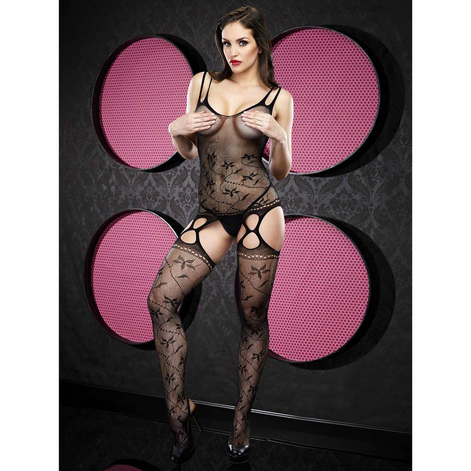 Lapdance Strappy Lace Garter Bodystocking