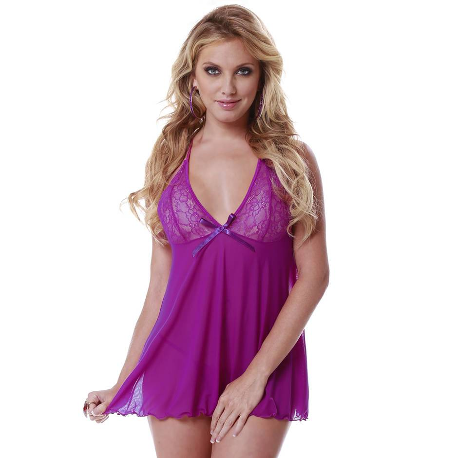 Escante Lace and Mesh Babydoll Set