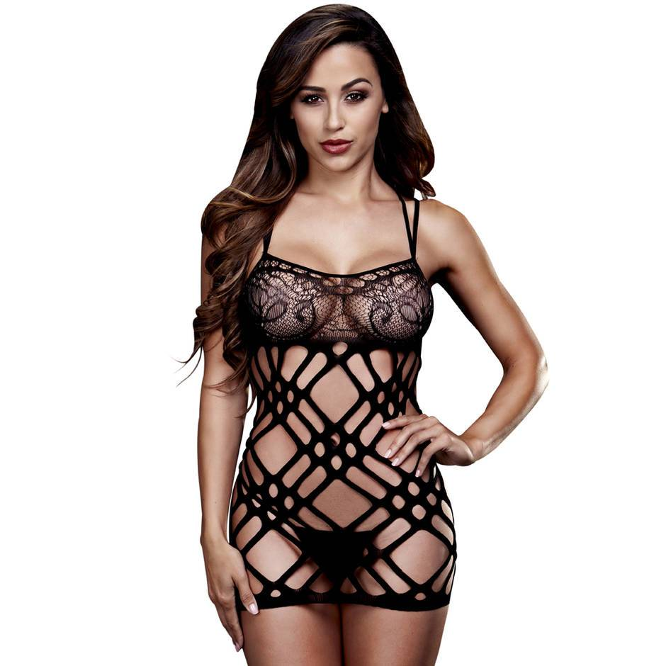 Baci Lingerie Double Strap Lace Mini Dress