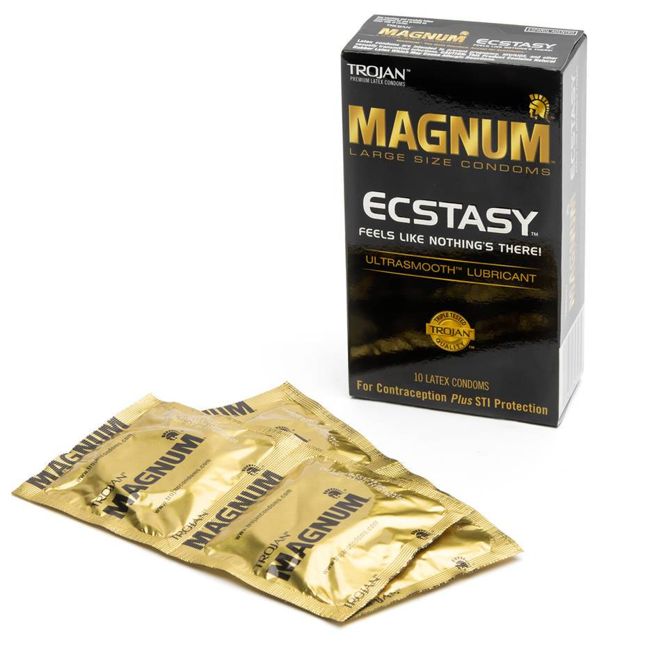 Trojan Magnum Ecstasy Ultra Thin Large Condoms (10 Pack)