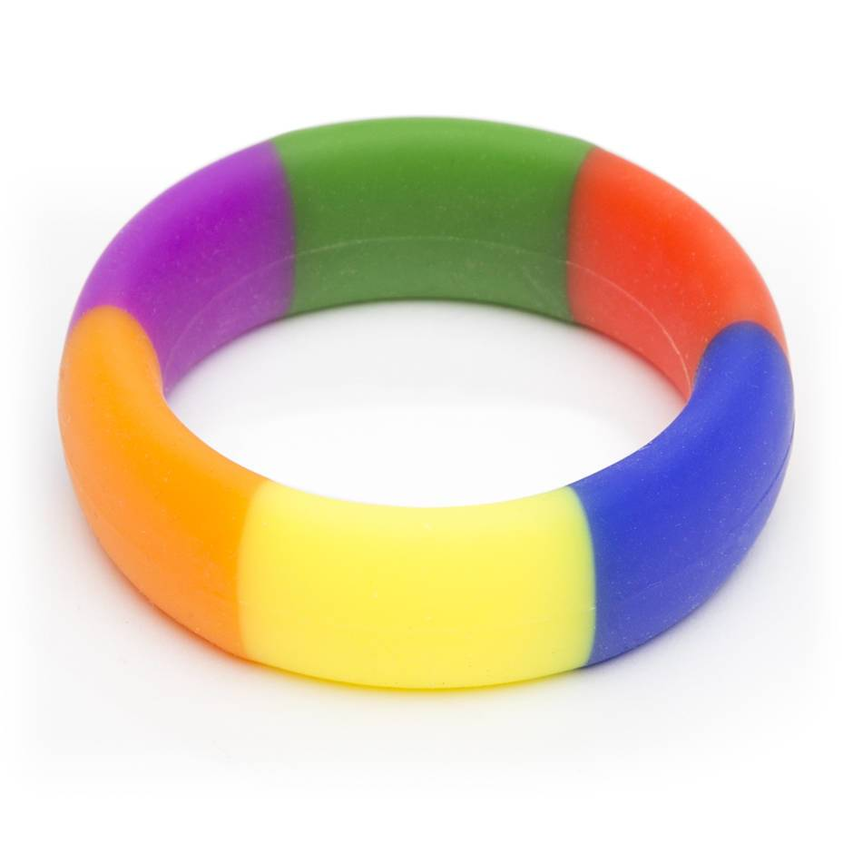 Rascal Pride Rainbow 1.75 Inch Silicone Cock Ring