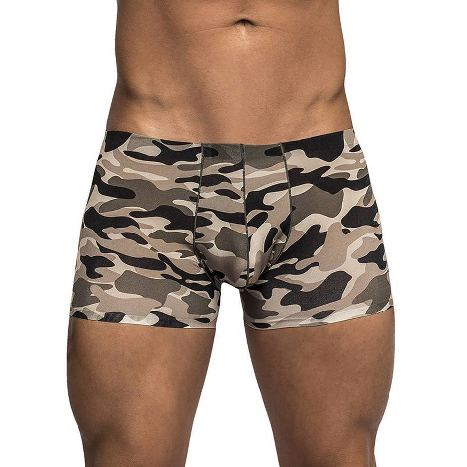 Male Power Commando Cammo Mini Shorts