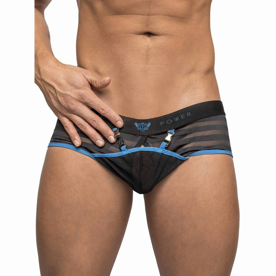 Male Power Clip Tease Open Front Mini Shorts