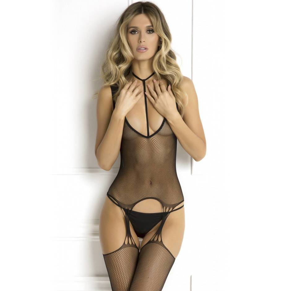 Rene Rofe Plunge Harness Suspender Bodystocking