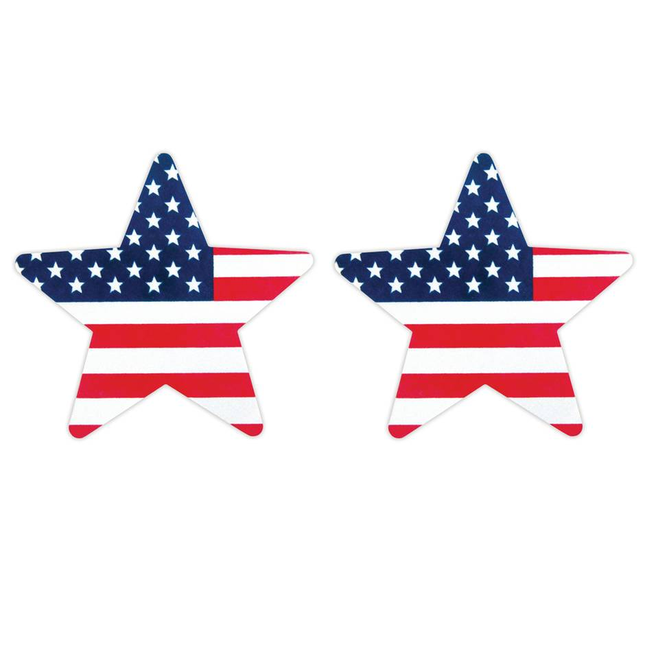Peekaboos Stars and Stripes Nipple Pasties