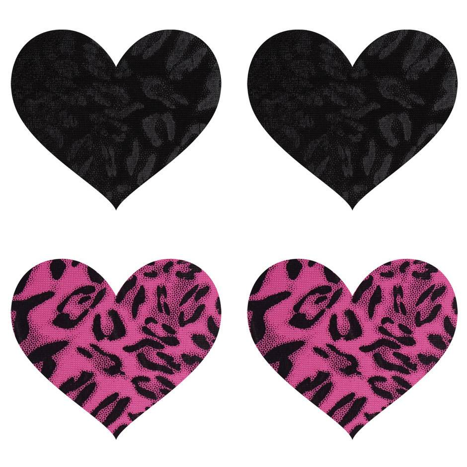 Peekaboos Wildcat Hearts Nipple Pasties (2 Pairs)
