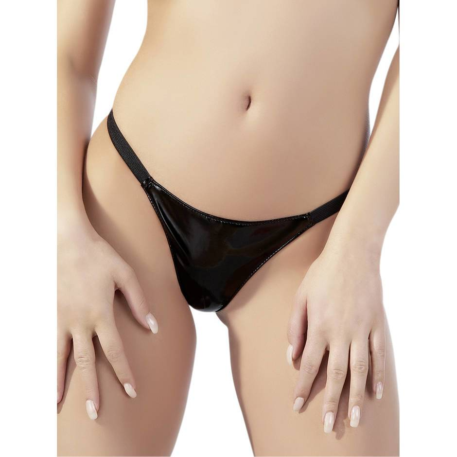 Black Level PVC G-String