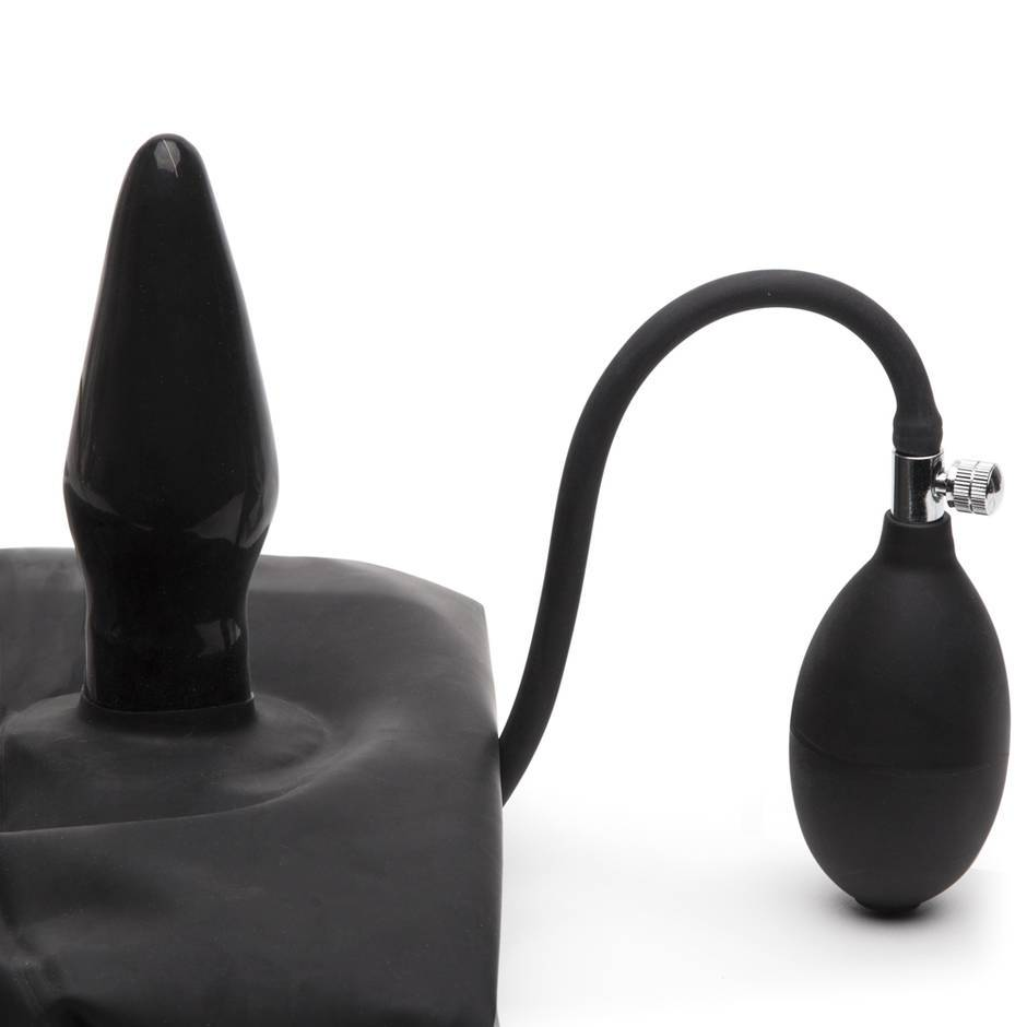 Renegade Rubber Latex Underpants With Inflatable Butt Plug -1694