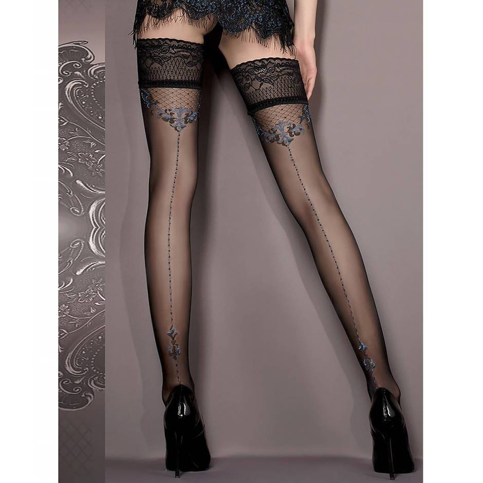 Ballerina Luxury Lace Top Embroidered Hold-Ups