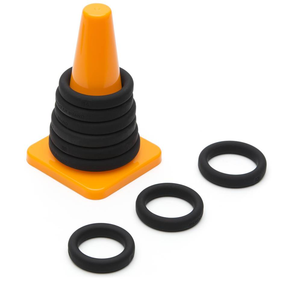 Perfect Fit Play Zone Silicone Cock Ring Set (9 Pack)