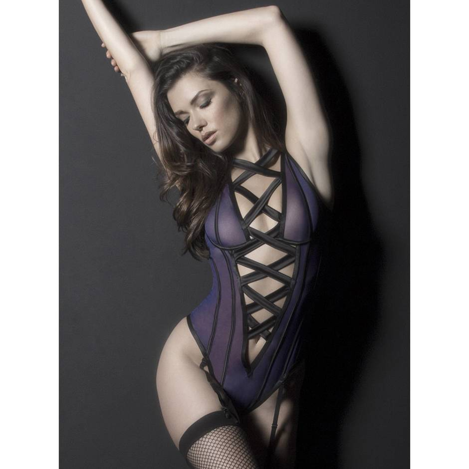 Oh La La Cheri Underwired Strappy Body with Suspenders