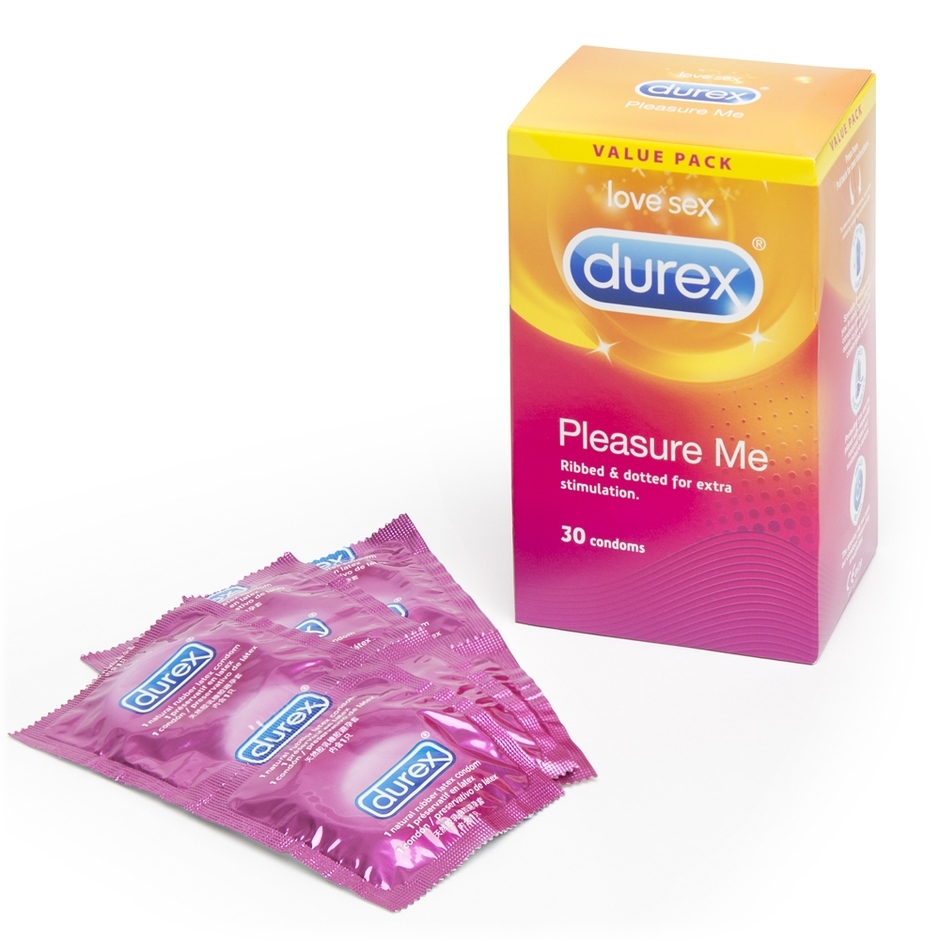 Durex Pleasure Me Textured Condoms (30 Pack)