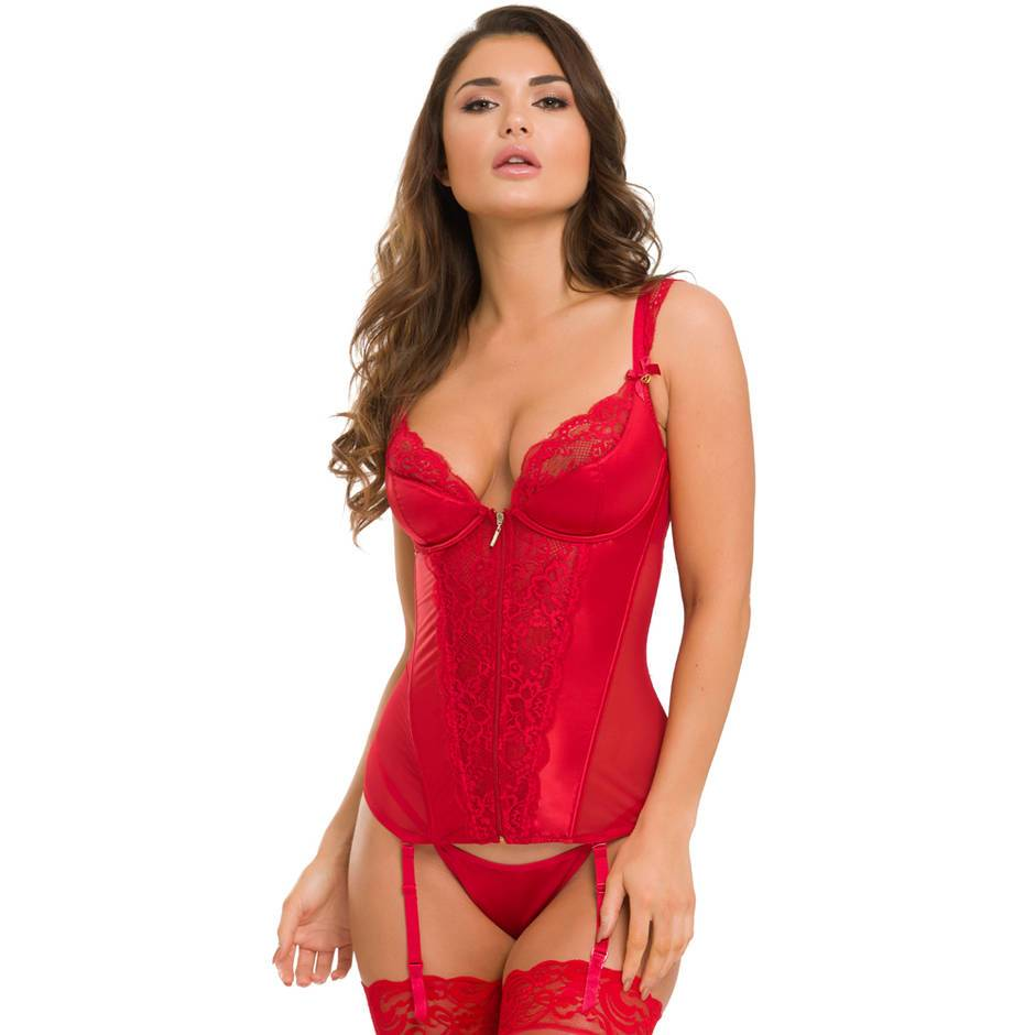 Lovehoney Treasure Me Red Basque Set
